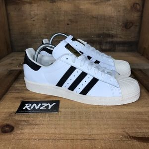 NEW Adidas Superstar 80s White Black
